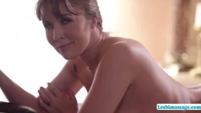 Lena Paul gets a horny lesbian sex massage