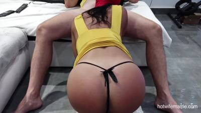 Perfect Ass Babe Sucking Cock In Mask