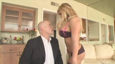 Shyla Stylez with big tits wearing stockings getting fucked