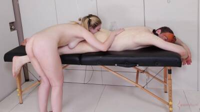 Ass eating slave girl getting throat fucked