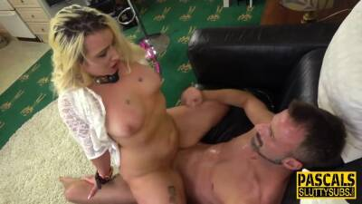 Bound bdsm whore squirting