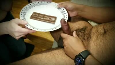 Collared Slave Sucks Cock And Eats Cum Off Vandover - Candy Bar